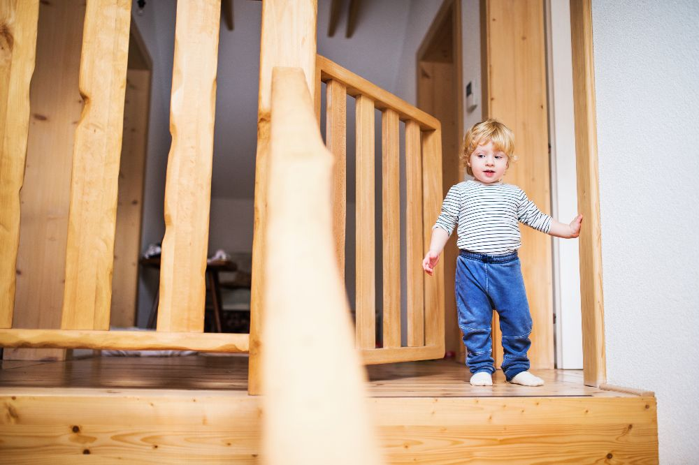 Detská bezpečnostná zábrana na schody